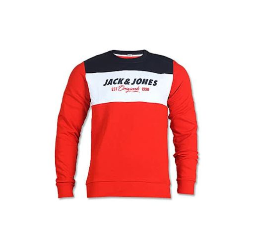Onitshamarket - Buy Jack & Jones Colour Block Sweatshirt - Red/Blue