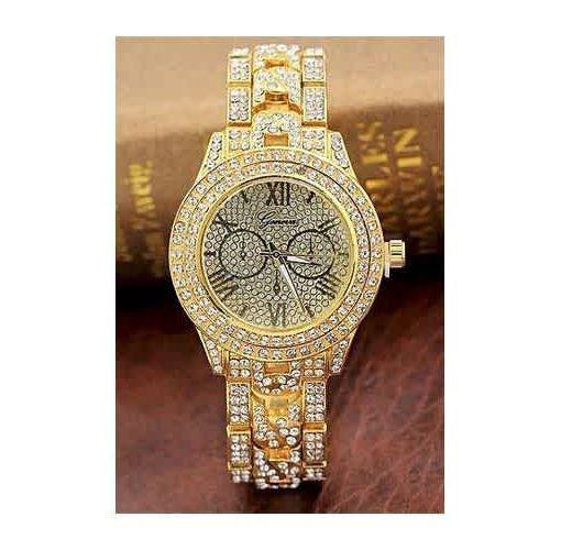 Onitshamarket - Buy Geneva Female WristWatch Metal Quart  Crystal Diamond Watch