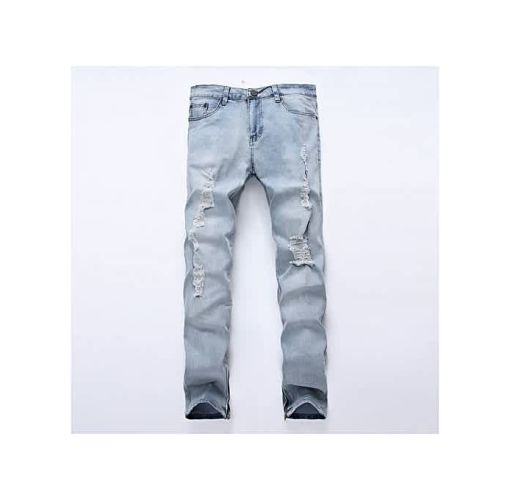 Onitshamarket - Buy Fashion Men Jeans Gray Color Men's Straight Pants Casual Long Trousers Slim Classic Design Good Fabric Male Jeans -blue Clothing
