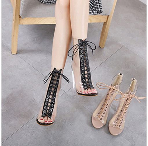 Onitshamarket - Buy Fashion Bliccol High Heel Shoes Roman Buckle Strap Shoes Women Sandals Sexy Sandals High Heels Woman Ankle Boots-Khaki - KhakI