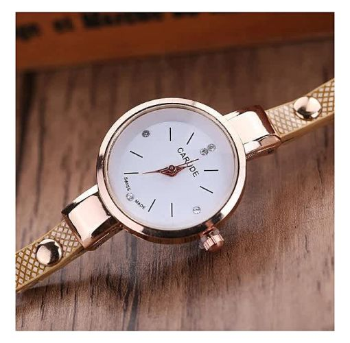 Onitshamarket - Buy generic Generic Jiuhap Store Generic ByFun Women Leather Rhinestone Analog Quartz Wrist Watches-Beige