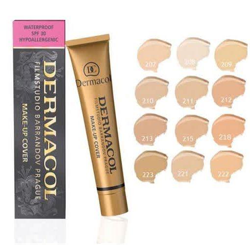 Onitshamarket - Buy Dermacol Foundation Makeup Hypoallergenic Waterproof SPF 30 Cream Concealer