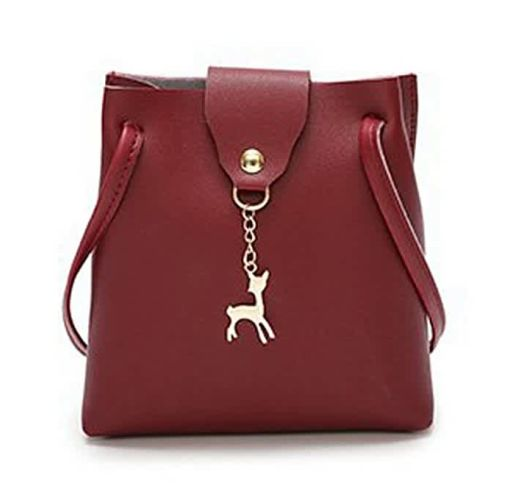 Onitshamarket - Buy generic Allwin Women Handbag Solid Color Shoulder Bag Storage Bag With Adjustable Strap Wine Red Handbags and wallets