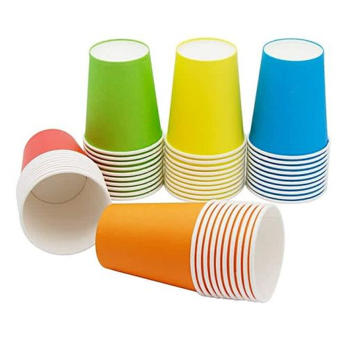 Onitshamarket - Buy UNIQUE Holiday Party Disposable Cups, Paper Cups For DIY (Assorted Colors)