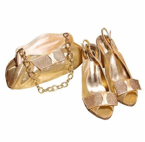 Onitshamarket - Buy Ladies Shoe & Bag - Gold Shoes and Bags