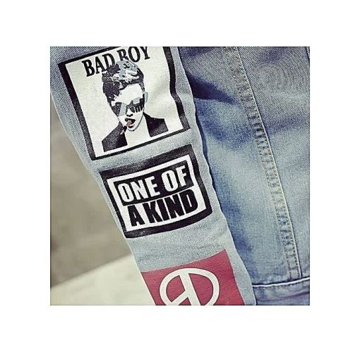 Onitshamarket - Buy Fashion Generic Men Solid Casual Slim Denim Jacket Male Clothing