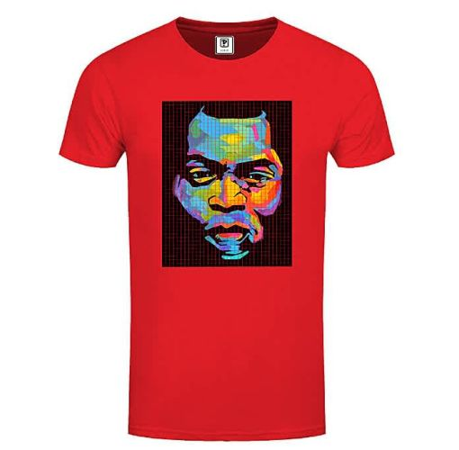 Onitshamarket - Buy Priddi international Fearless Kuti T-Shirt - Red Clothing