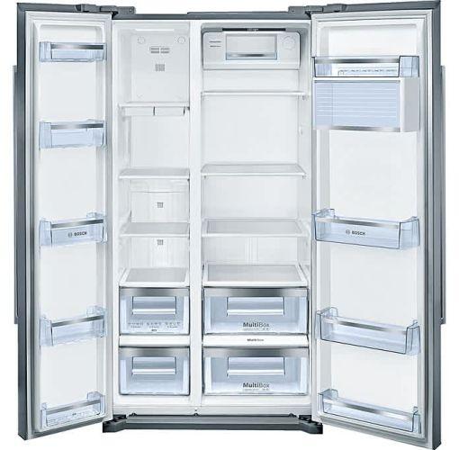 Onitshamarket - Buy Bosch Series 6, Side-by-Side American-style Fridge Freezer Stainless Steel Easy-Clean Door And Grey Side Panels, Inox, 522L