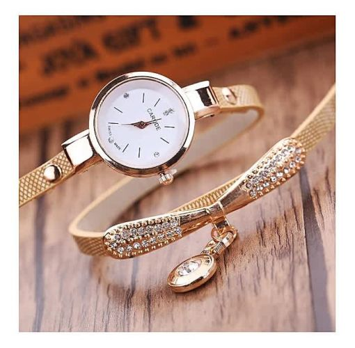 Onitshamarket - Buy generic Generic Jiuhap Store Generic ByFun Women Leather Rhinestone Analog Quartz Wrist Watches-Beige Female Jewelry