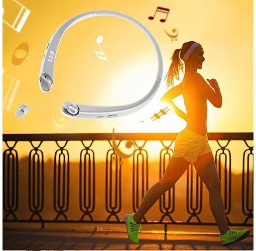 Onitshamarket - Buy Allwin Bluetooth Headset Sport Stereo Wireless Headphone Retractable Earphone Silver