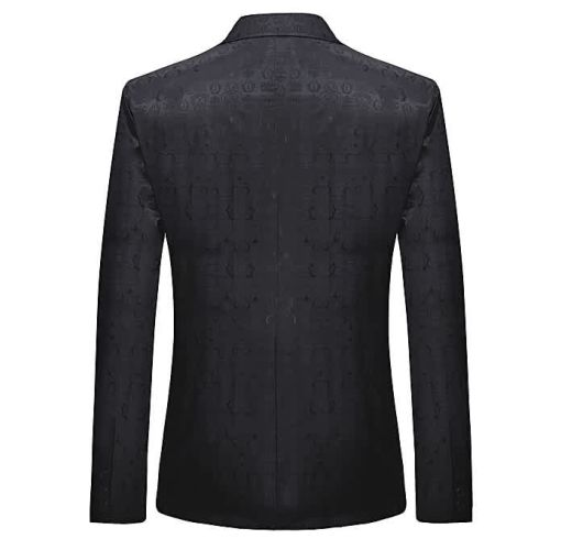 Onitshamarket - Buy AFankara One Button Vintage Print Blazer - Black