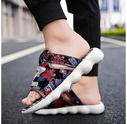 Onitshamarket - Buy Men's Sandals Soft Sole Beach Sandal Non Slip Shoes/Red- Fashion