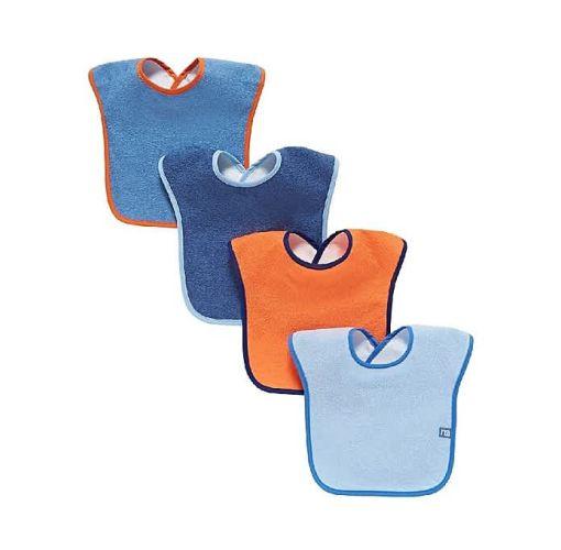 Onitshamarket - Buy Colour Block Toweling Bibs- 4 Packs