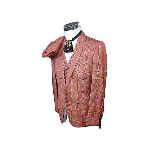 Onitshamarket - Buy Fashion 3 Piece Men's Suit - Orange Check