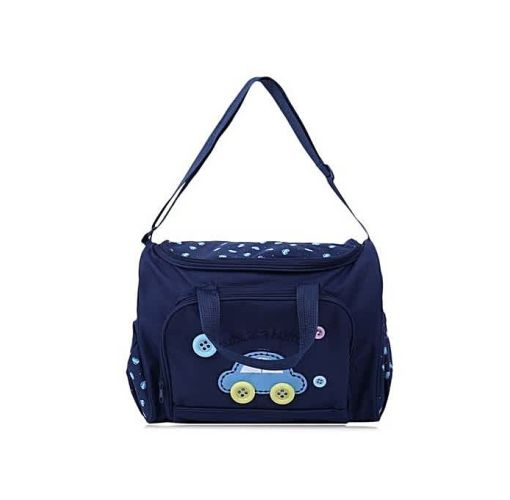 Onitshamarket - Buy 4pcs In 1 Mummy Handbag Diaper Pad Bottle Holder Food Bags Mom's Shoulder Bag Big Capacity Navy Color Maternity