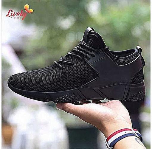 Onitshamarket - Buy Latest men sneakers -Black Casual Shoes