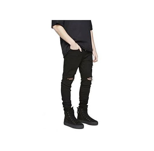Onitshamarket - Buy Men's Denim Slim Stretch Jeans - Black - Fashion