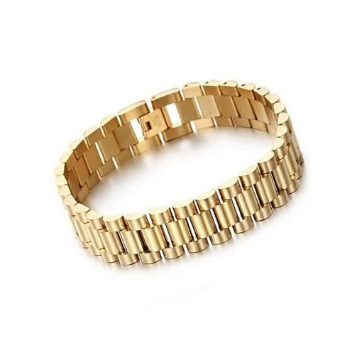 Onitshamarket - Buy Highly Polished Skinny Men's Bracelets- Gold