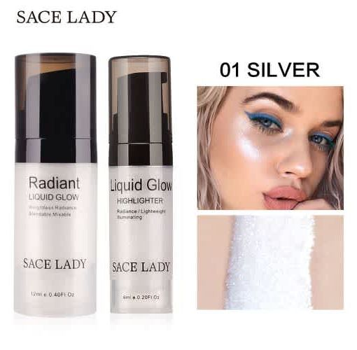 Onitshamarket - Buy SACE LADY Illuminator Makeup Highlighter Cream Face Brighten Professional Shimmer Make Up Liquid Glow Kit Beauty Brand Cosmetic Makeup