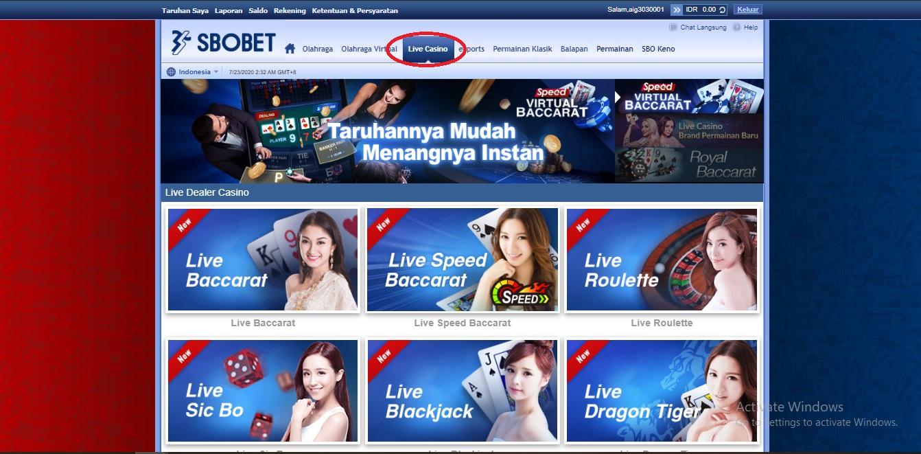 Sbobet Baccarat Online - Online303