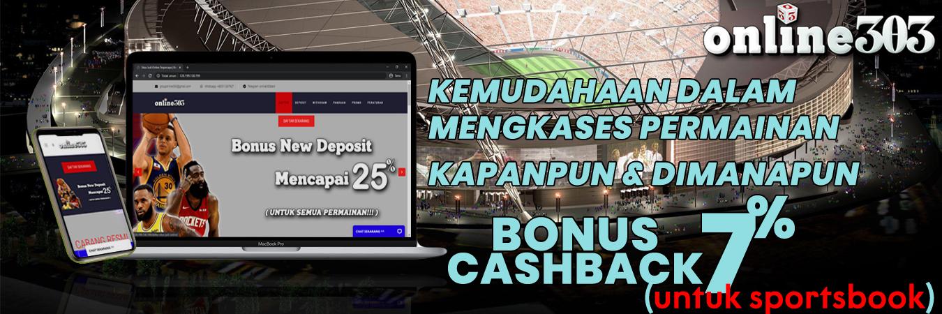 bonus cashback terbesar - Online303
