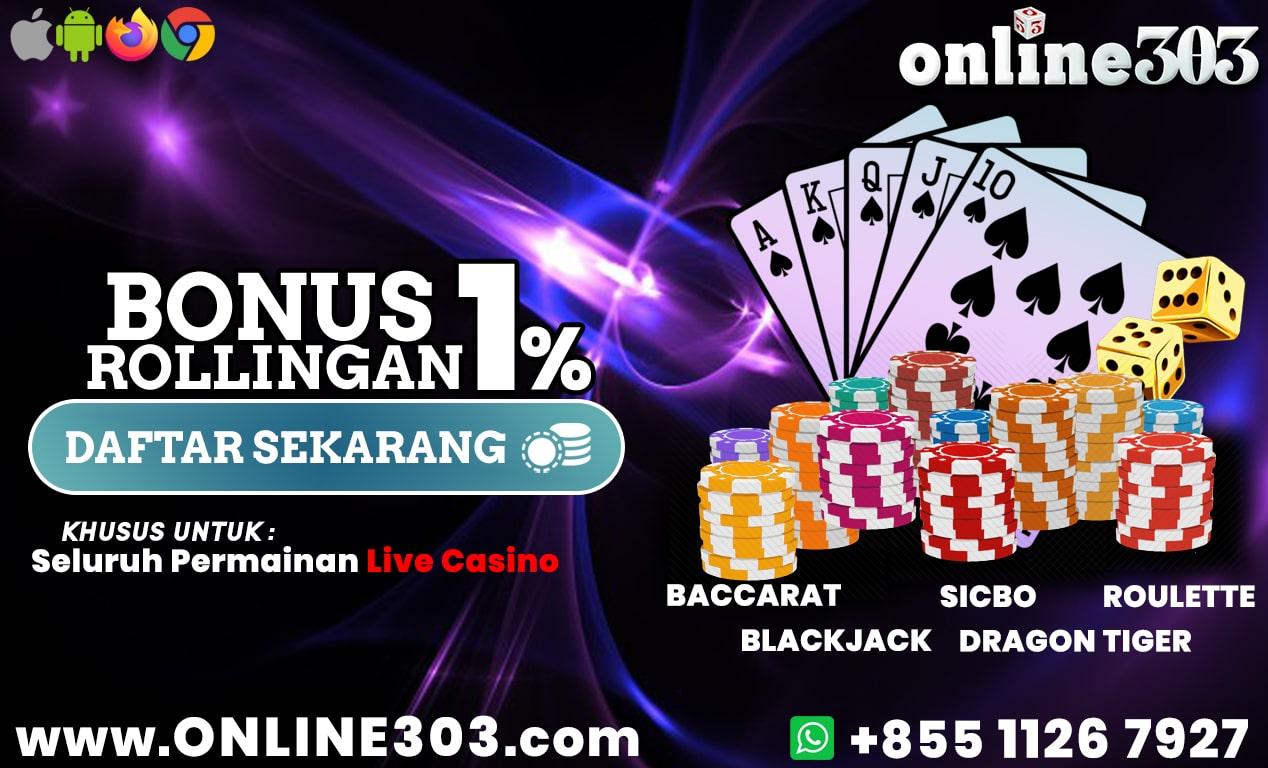 Bonus Rollingan Terbesar - Online303