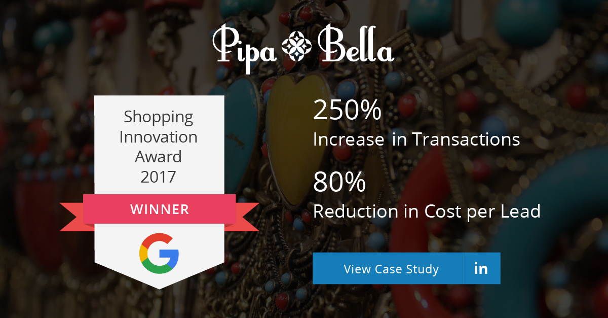 Pipa Bella | Google Global Shopping Innovation Award