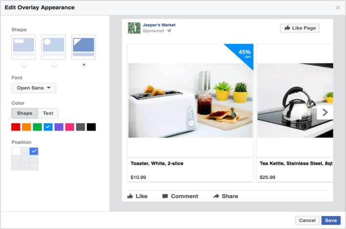 Facebook Ad Overlays