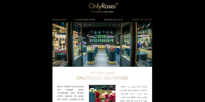 Our newest store: OnlyRoses Abu Dhabi