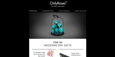 Top 10 Wedding Day Gifts