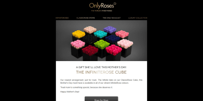 A Gift She'll Love This Mother's Day: The InfiniteRose Cube