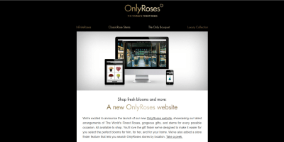 Shop fresh blooms and more: A new OnlyRoses website