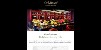 We're officially open: OnlyRoses Beverly Hills