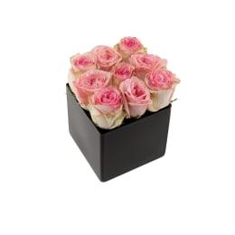 Classic Rose Black Cube