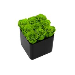 Infinite Rose Black Cube