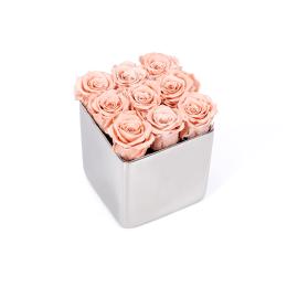Infinite Rose Silver Cube