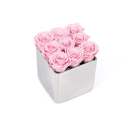 Infinite Rose Silver Cube Mother's Day