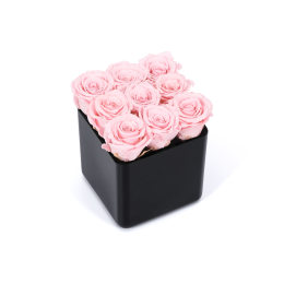 Valentine's Infinite Rose Black Cube