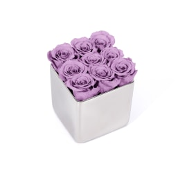 Lilac Luxury: Infinite Rose Silver Cube