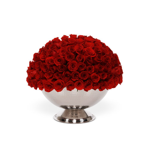 The Infinite Rose Champagne Bowl - OnlyRoses - Luxury Roses Delivered