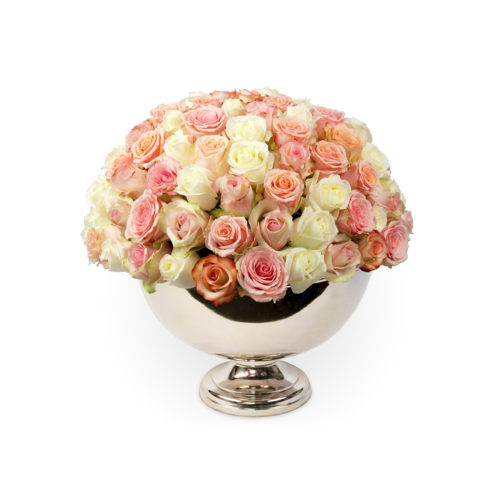 Classic Rose Champagne Bowl - Delivered in Los Angeles - OnlyRoses