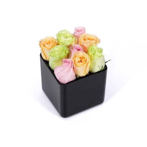 Classic Rose Cubes - Delivered in Kuwait - OnlyRoses