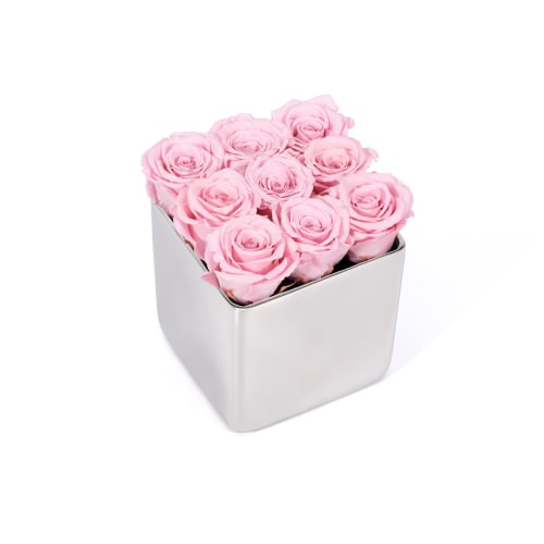 Infinite Rose Silver Cube - OnlyRoses - Mother's Day