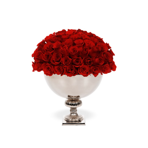 Classic Rose Punch Bowl - Doha Delivery - OnlyRoses