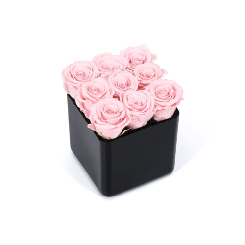 Valentine's Day Infinite Rose Black Cube Delivered in London