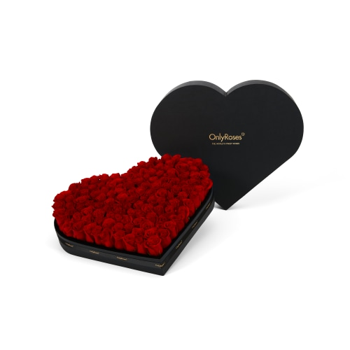 Classic Rose Hearts - Delivered in London - OnlyRoses