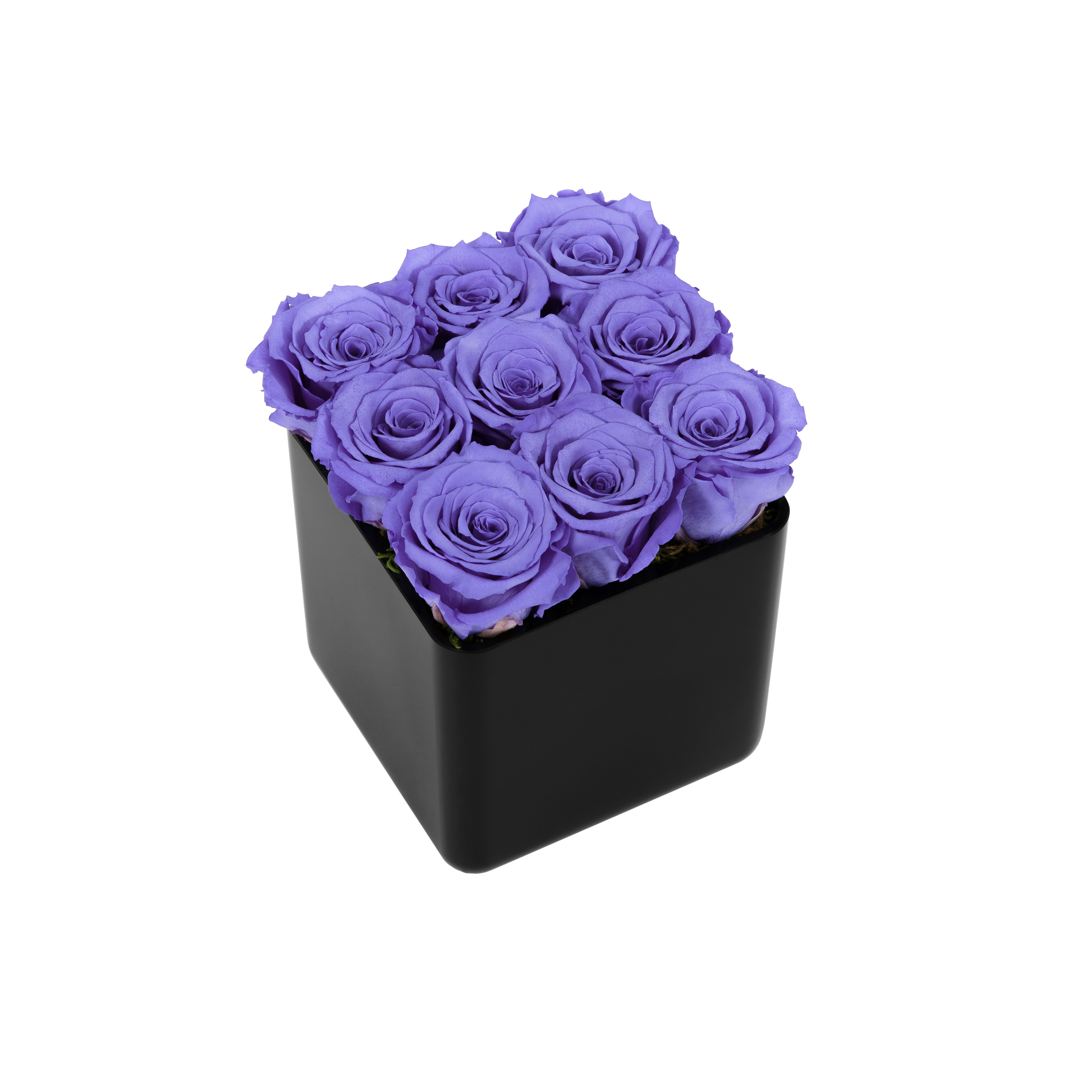The infinite rose black cube onlyroses rose delivery service izmirmasajfo