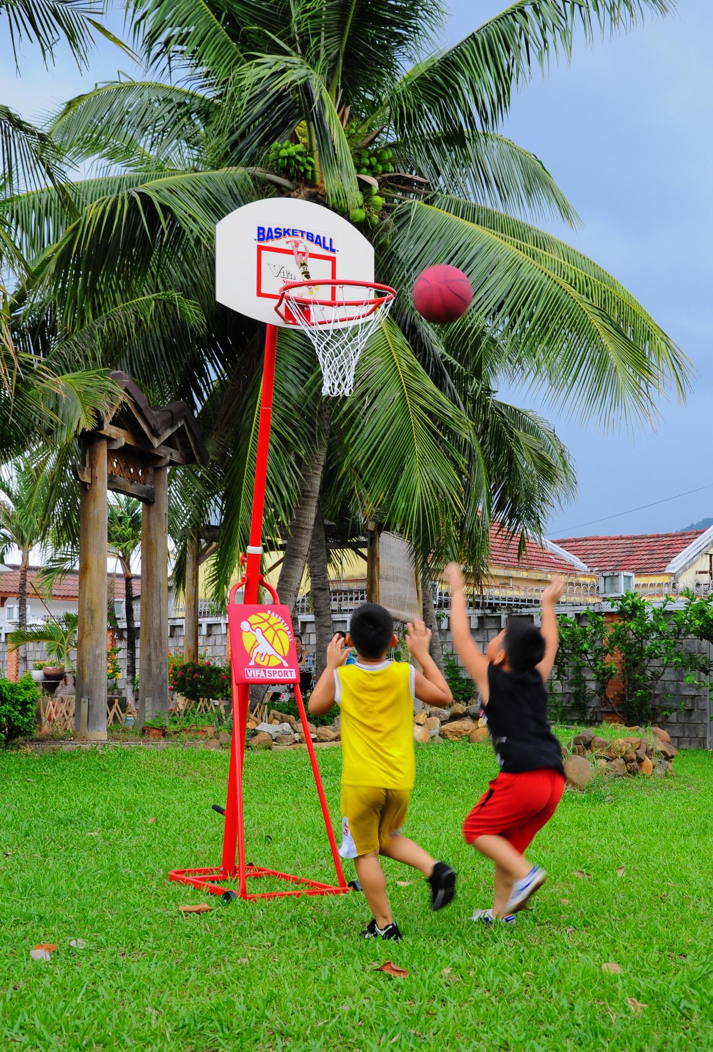 Trụ bóng rổ điều chỉnh độ cao cho gia đình và trẻ em 801814