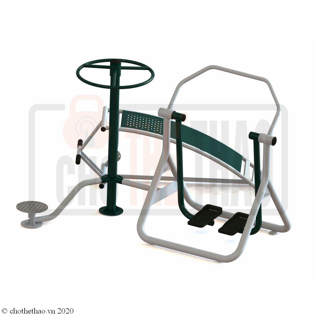 Máy tập thể dục ngoài trời Cụm lưng bụng, xoay eo, đi bộ VIFA723334