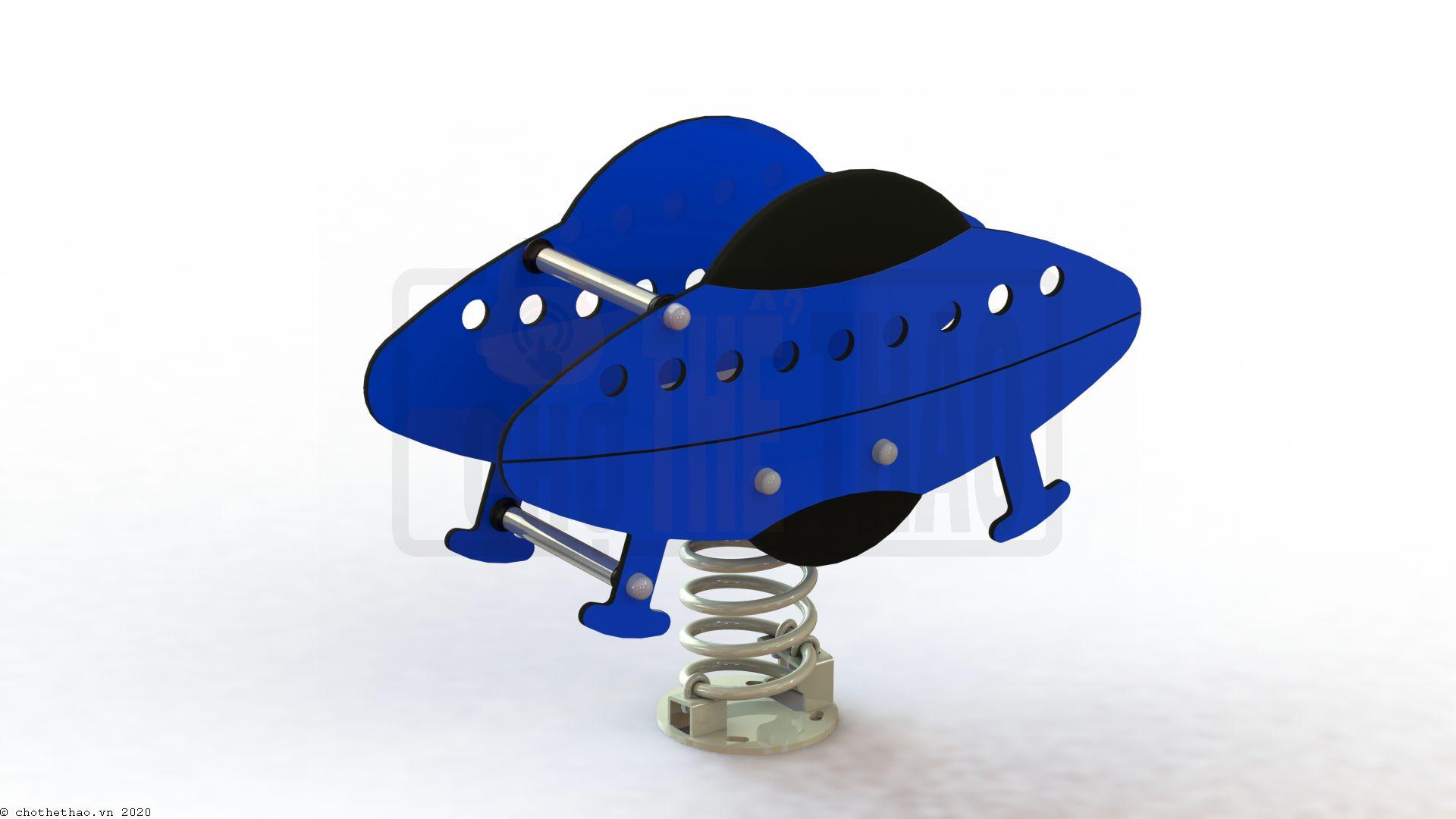 Thú nhún lò xo 2 tấm đĩa bay NIK731513-UFO